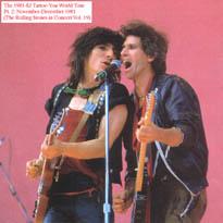 THE 1981 82 TATTOO YOU WORLD TOUR